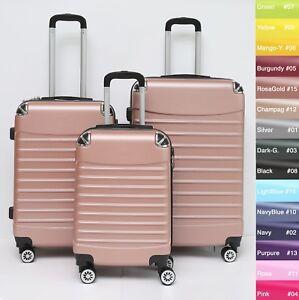 Koffer-B-102-Hartschalenkoffer-Trolley-Kofferset-Reisekoffer-M-L-XL-Set
