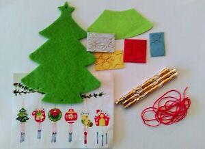 Details Zu Weihnachten Basteln Kinder Filz Sticker Aufkleber Diy Schneemann Nikolaus
