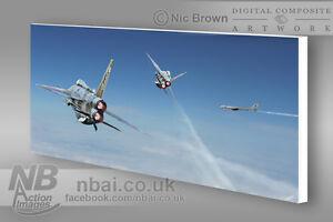F-6-Lightnings-11-Squadron-039-The-Bear-Hunt-039-CANVAS-PRINT-Digital-Artwork