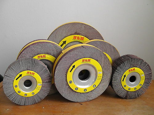 "10pcs Abrasive Flap Wheels 2/"" x 1/"" x 1//4/"" Aluminum Oxide 40 Grit  Mounted"