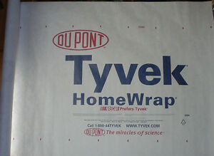 Image is loading 18-ft-X-9-ft-DuPont-Tyvek-Homewrap- & 18 ft. X 9 ft. DuPont Tyvek Homewrap for Ground Sheet or Tarp or ...