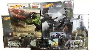 Hot Wheels 1/64 Marvel Studios Concept Art Ensemble De 5 Voitures Nouvel Assortiment Dlb45 887961253382