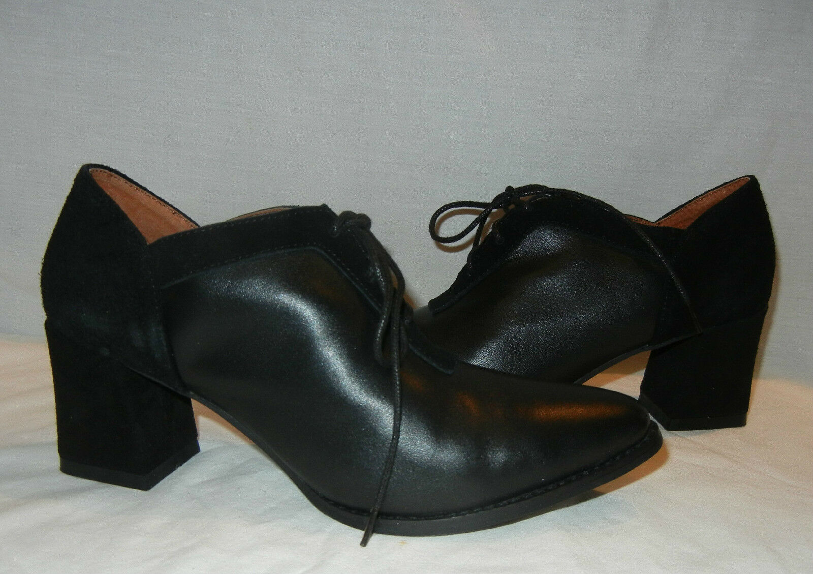 Kobe Husk Women's Hankster Black Leather Lace Up Heels Retail  170 size 9