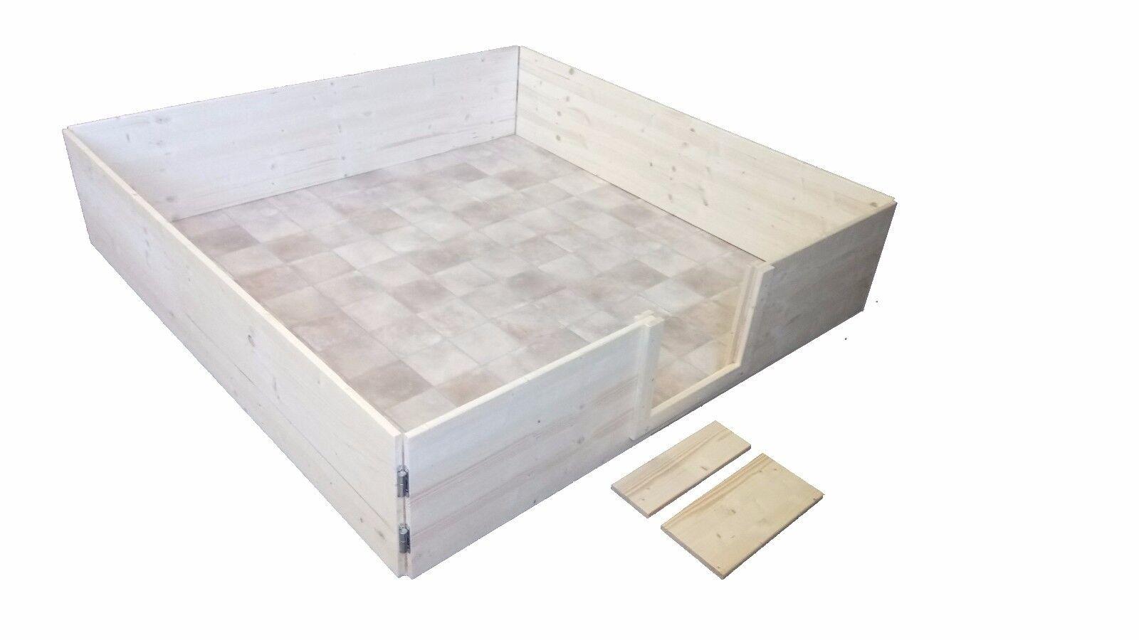 Auslauf 180x180 sehr variabel, Stecksystem Wurfkiste  Wurfbox Welpenauslauf