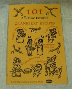 101 All Time Favorite Cranberry Recipes Cookbook Ocean Spray 36 Pg Pb Ebay