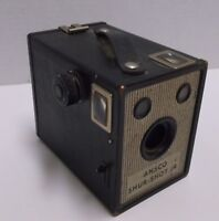 ANTIQUE ANSCO SHUR SHOT JR BOX CAMERA c1948, 120 or 620 ROLL FILM