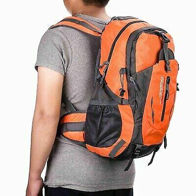 40L Sports Shoulder Men Backpack Hiking Zipper Laptop School Day Pack Bag Orange