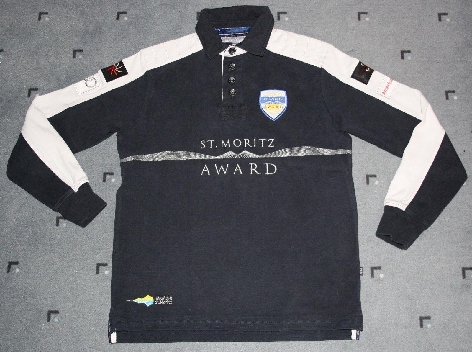 Polo St. Moritz 1899 1899 1899  St. Moritz Award  Herren Polohemd langarm blau Gr. XS   S  | Düsseldorf Online Shop  1d4356