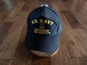 Details about U S MILITARY NAVY VIETNAM VETERAN HAT U S MILITARY OFFICIAL  BALL CAP U S A MADE
