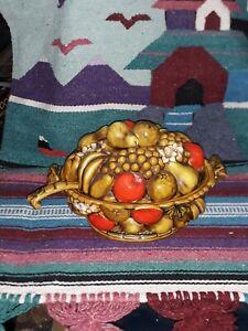 Vintage Porcelain Fruit Basket Soup Serving Tureen 12-Cup Capacity VG