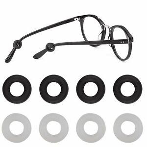4 Pairs Anti Slip Glasses Ear Hooks Tip Eyeglasses Grip Temple Holder Silicone
