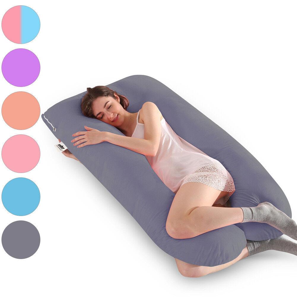 57  Full Body Pregnancy Pillow, Oversized U-shaped Materniy Pillow for Sleeping