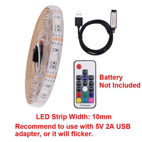 USB 5V 5050 LED Strip Lights Warm White TV PC Monitor Backlight Self Adhesive