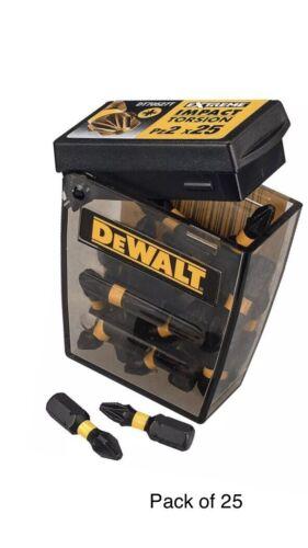 DEWALT DT70527T-QZ Extreme Impact Torsion Bits Box PZ2 x 25 mm Pack de 25
