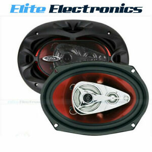 "BOSS CH6940 6x9"" CHAOS 500W 4-WAY COAXIAL REAR STEREO SPEAKERS PAIR CAR AUDIO"