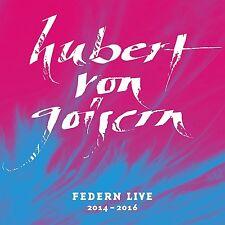 HUBERT VON GOISERN - FEDERN LIVE 2014-2016  2 CD NEU