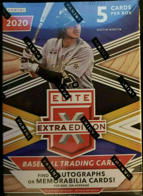 2020 Panini Elite Extra Edition Baseball Factory Sealed Blaster Box