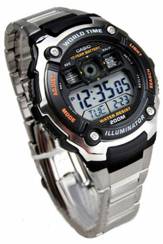 Casio ORIGINAL NEW AE-2000WD-1A Mens 200M Water Resistant Watch AE-2000WD