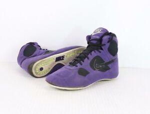 Dettagli su Vintage 90s Nike Combatant da Uomo Misura 8.5 Camoscio Wrestling Scarpe Viola