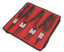"4PC CirClip Plier Set 13"" Snap Ring Pliers Internal & External In Zip Case"