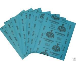 Wasserschleifpapier 30 Blatt  im Set je 5 Blatt 1000,1200,1500,2000,3000,5000
