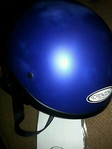 THH T-69 Blue Half Helmet New with Slight Fading DOT Approved Large 59-60 cm