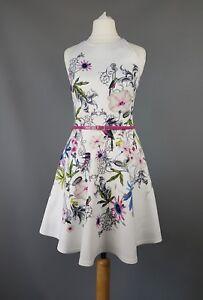 Size Samm Dress 6 Skater Uk 0 Belted Baker Floral Ted xZcfRWHn