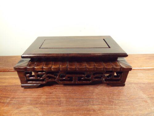 "Black Suan Zhi Wood 7 3//4/""x4 3//4/"" Rectangle Display Stand"