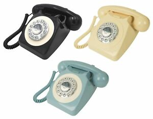 Retro Chic GPO British Working Push Button Telephone Old Fashioned Vintage