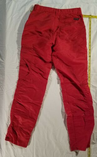 Bugle Boy vintage 1980's red parachute pants