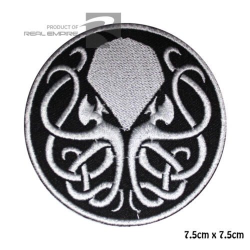 Lovecraft Motif Embroidered iron on sew on Patch Badge Steampunk Cthulhu