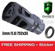 Phase 5 Tactical Little Boy Hex Muzzle Brake Larger 9mm 6.8mm 76239 1/2x36 Comp