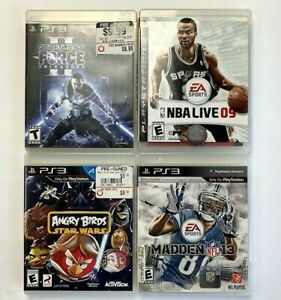 Lot-of-4-Playstation-3-Video-Games-NBA-Live-Star-Wars-Force-Angry-Birds-Madden