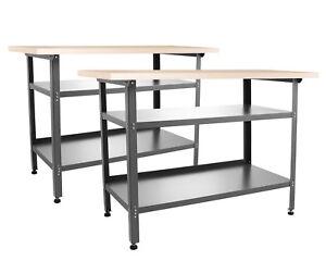 Ondis24 2x Werkbank Werkstatttisch Metall Montagewerkbank Packtisch Basic 240 cm