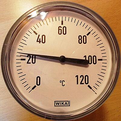 Wika Bimetall Zeiger Thermometer 63 mm 0 120 Tauchhülse
