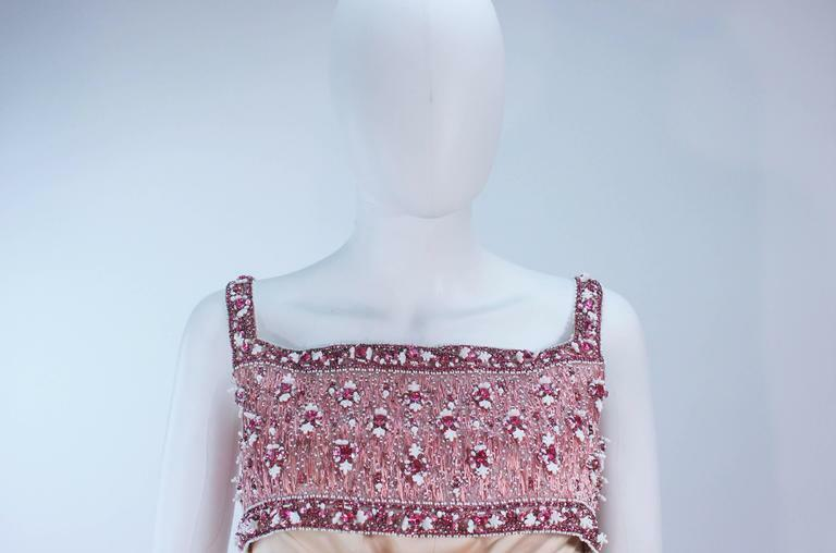 GIVENCHY COUTURE Circa 1960s Nude Gown w/ Beaded … - image 9