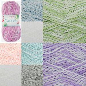 King-Cole-Calypso-DK-Knitting-Yarn-100g-Acrylic-Crimped-Wool