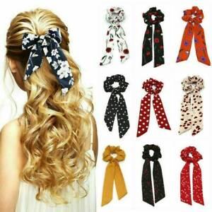 Elastic-Boho-Print-Ponytail-Scarf-Bow-Hair-Rope-Tie-Scrunchies-Ribbon-Hair-Bands