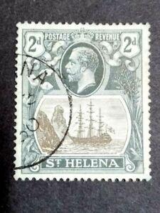 1923 St. Helena King George V Ship 2d - 1v Used