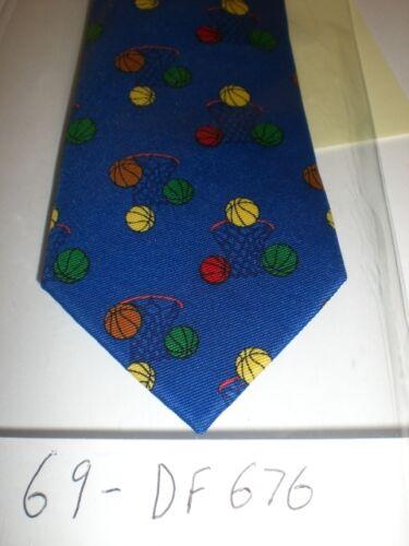 """CHILDREN/'S NECK TIE 12/"""" 69-DF676SAM BLUE BASKETBALL ADJ"""