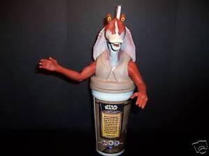 Star Wars Jar Jar Binks Pizza Hut Taco Bell Pepsi Cup Collectible Figure 1999