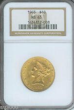 1903 1903-P $10 Liberty Ngc Ms63 Ms-63 Scarce Date !
