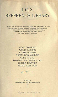 Wood Working Wood Turning Pattern Making Cupola Practice Cast Iron Book on CD