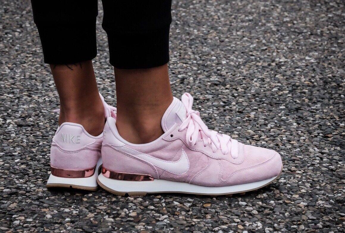 Nike Internazionalista SD in pelle scamosciata 919925-600 Prism Rosa EU 44.5 29 CM NUOVO