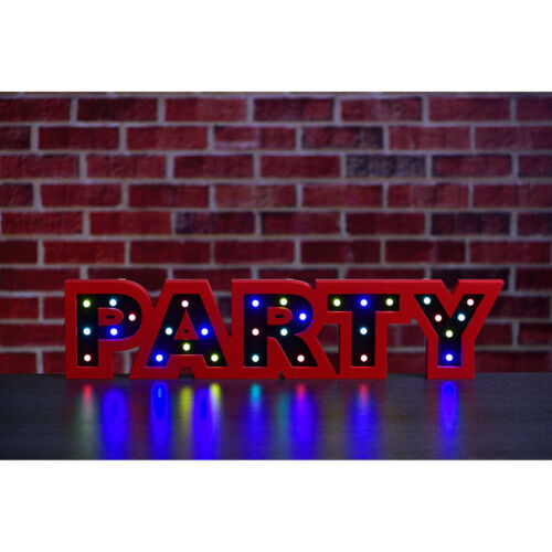 Multicoloured Groovy LED Party Light OR LED Disco Light Battery operated