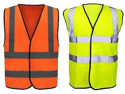 Responsabile Alta Vis Riflettente Strisce Gilet Panciotto Visibilità Sicurezza Arancio Giallo Mesh-mostra Il Titolo Originale
