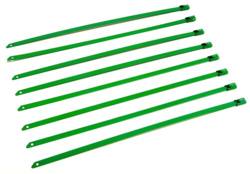 """8/"""" UNIVERSAL STAINLESS STEEL CABLES ZIP TIES X8 GREEN"""