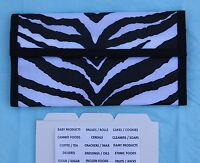 Zebra Pattern Hannah Hansen Coupon Organizer With Free Extra Organizer