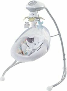 NEW-Fisher-Price-Sweet-Snugapuppy-Dreams-Cradle-039-n-Swing-White-FREE-SHIPPING