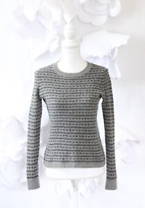 7bd6905f1c8a Image is loading Madewell-Fair-Isle-Cropped-Sweater-Pullover-S-Gray-
